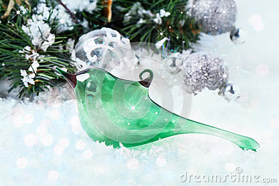 christmas-toy-glass-bird-green-snow-tree-silver-balls-33391681