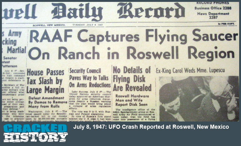 July-8-1947-UFO-Crash-Reported-at-Roswell-New-Mexico